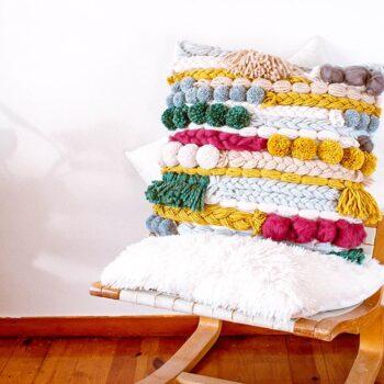 ashinyday.com DIY fauxwovenart cushion homedecor