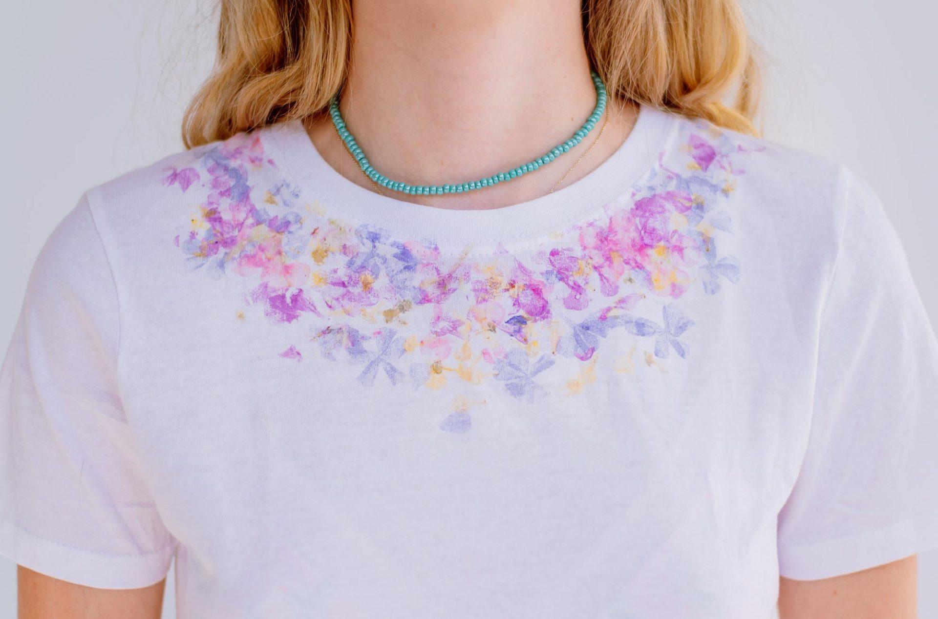 Ashinyday.com FashionDIY FlowerPrintTshirt-χειροτεχνίες