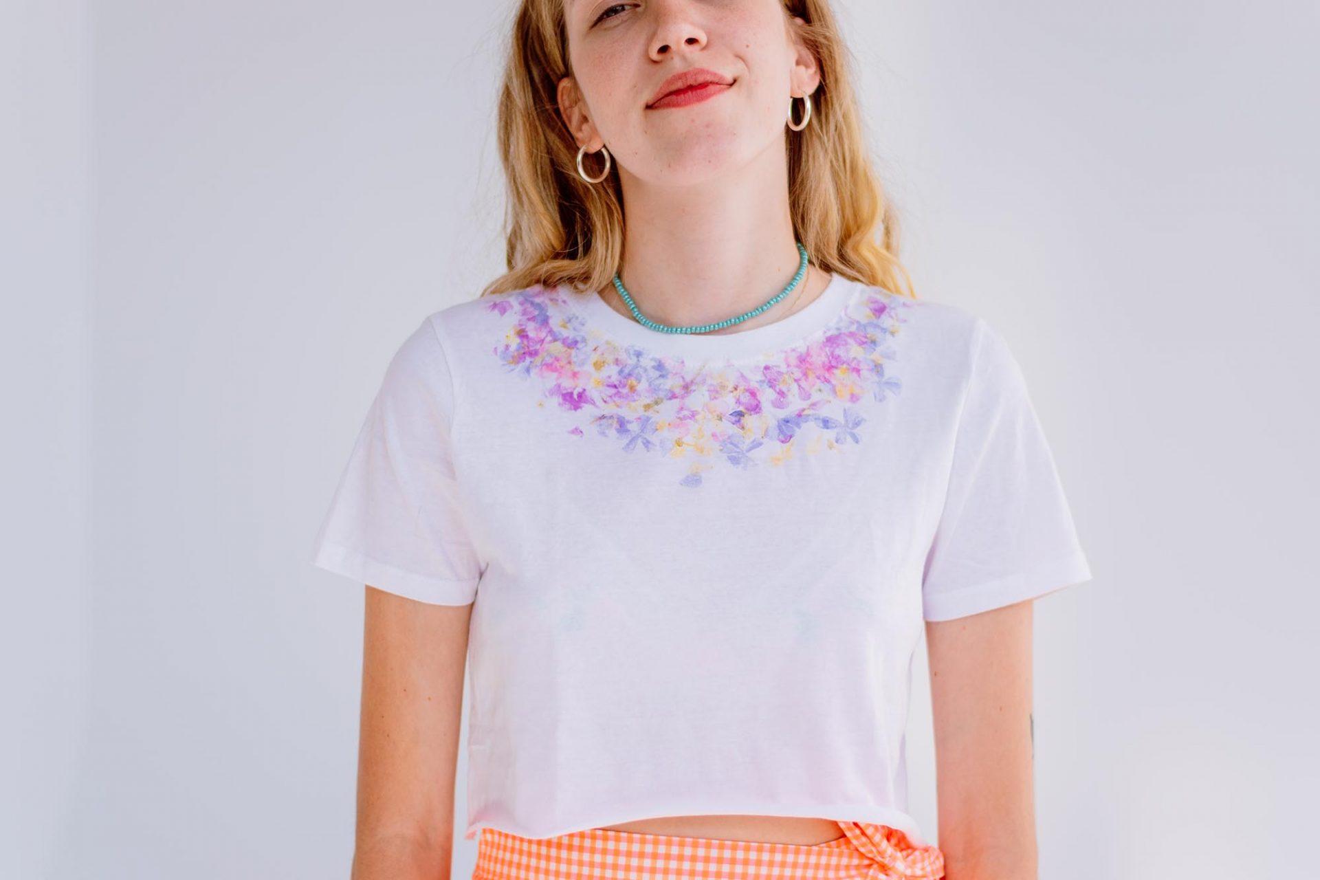 Ashinyday.com FashionDIY FlowerPrintTshirt-χειροτεχνίες-2